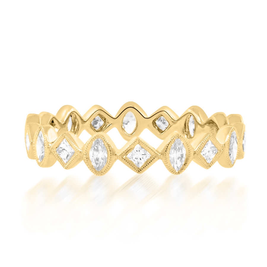 Beverley K Collection Oval and Princess Cut Diamond Eternity Ring