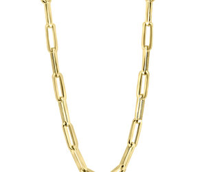 """Trabert Goldsmiths Large Gold Oval Link 20"""" Chain Necklace E3021"""