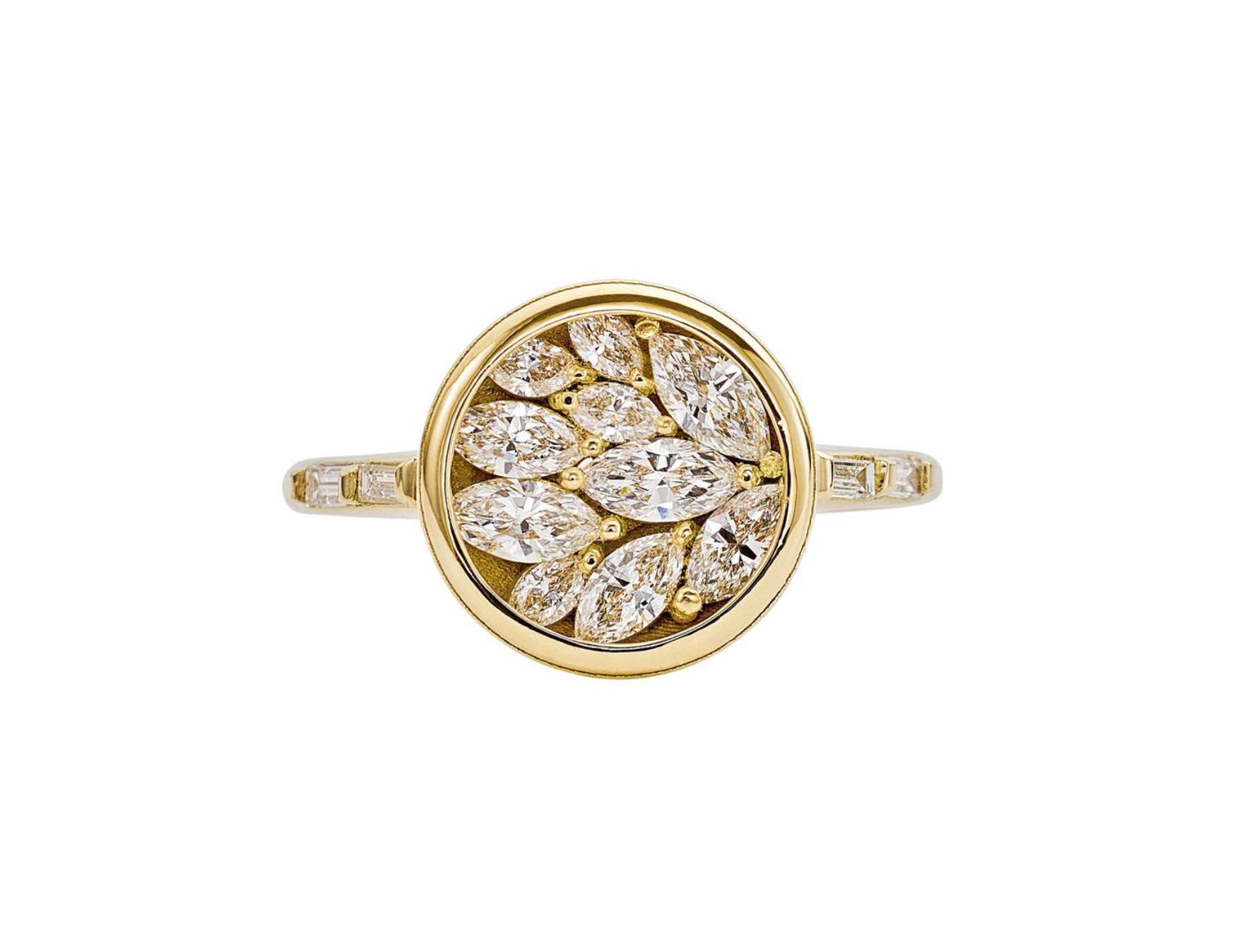 Artëmer Cluster Marquise Diamond Petal Ring