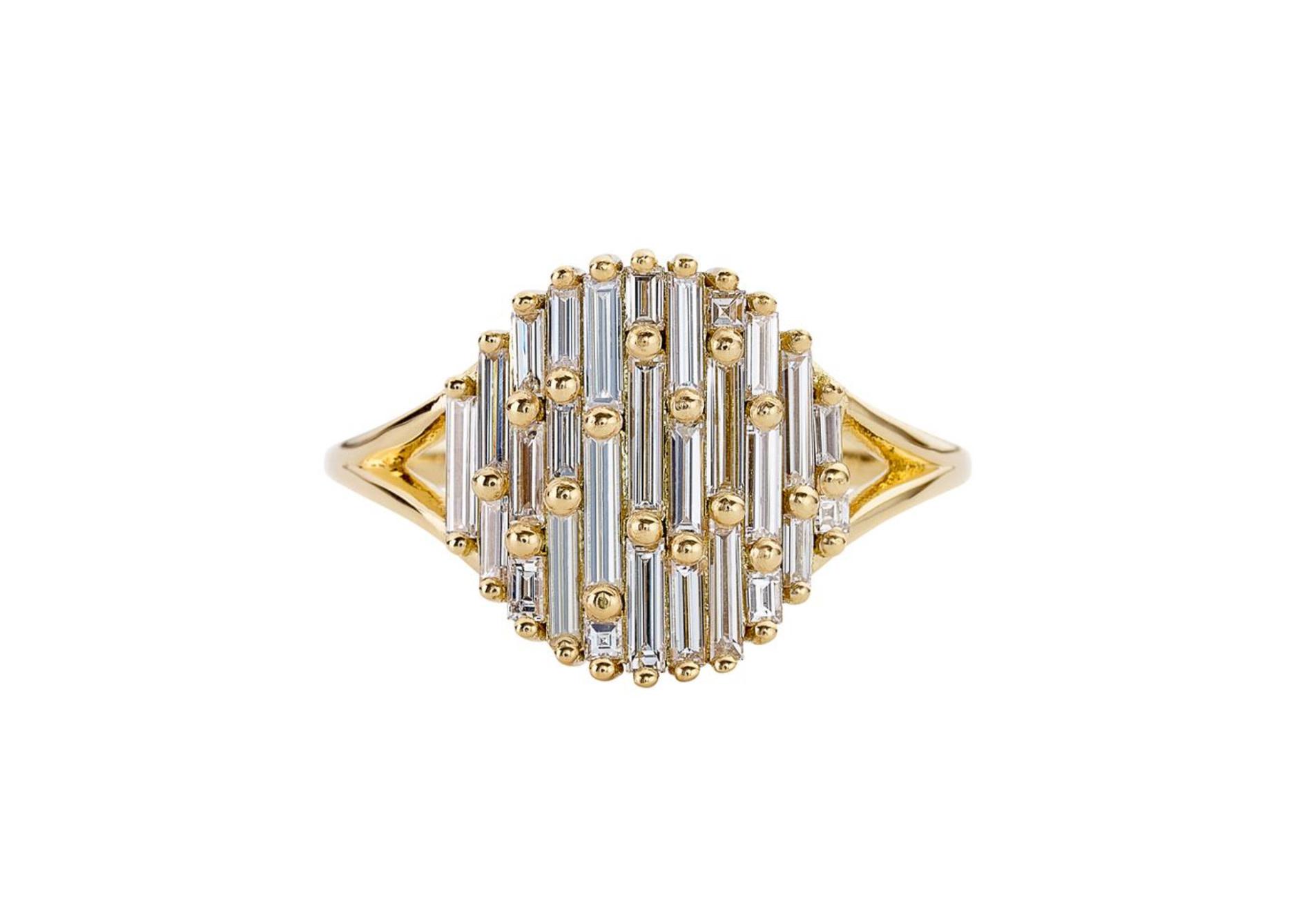 Artëmer Light Catcher Baguette Diamond Cluster Ring