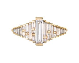 Artëmer Long Baguette Gradient Diamond Ring AT30
