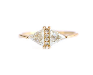 Artëmer Double Triangle Diamond Ring  AT31