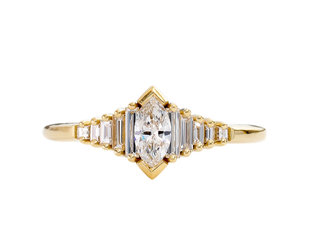 Artëmer Dainty Deco Marquise Diamond Ring AT32