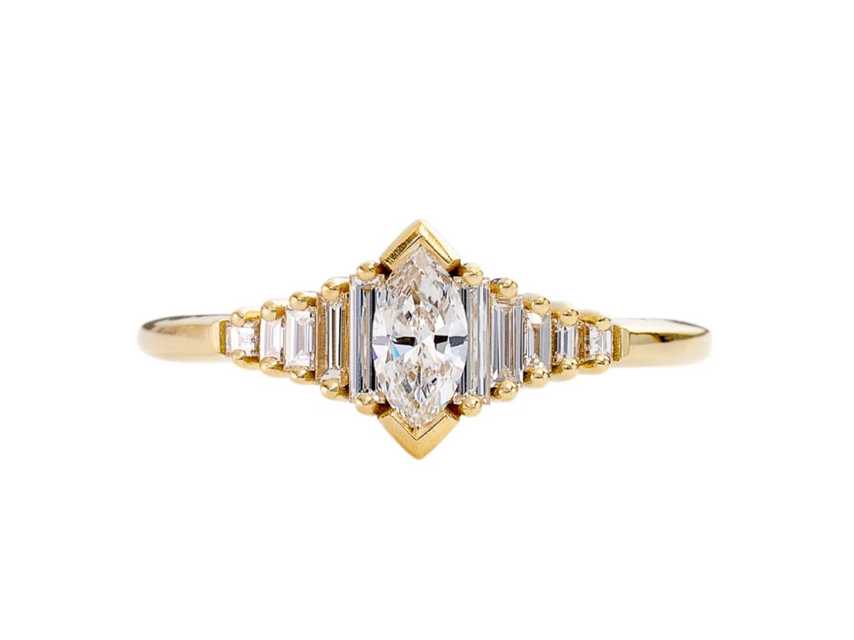 Artëmer Dainty Deco Marquise Diamond Ring