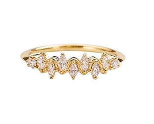 Artëmer Marquise Diamond Wave Ring AT34