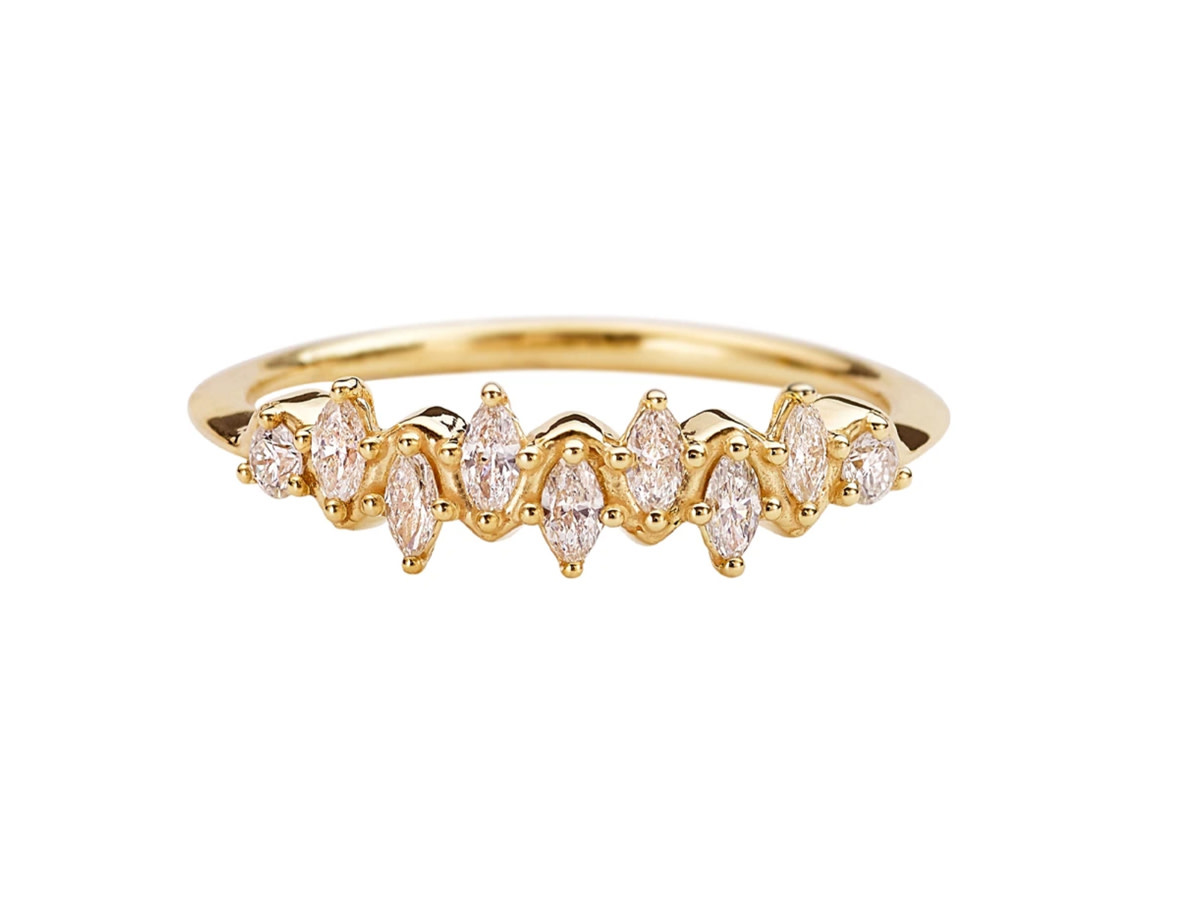 Artëmer Marquise Diamond Wave Ring