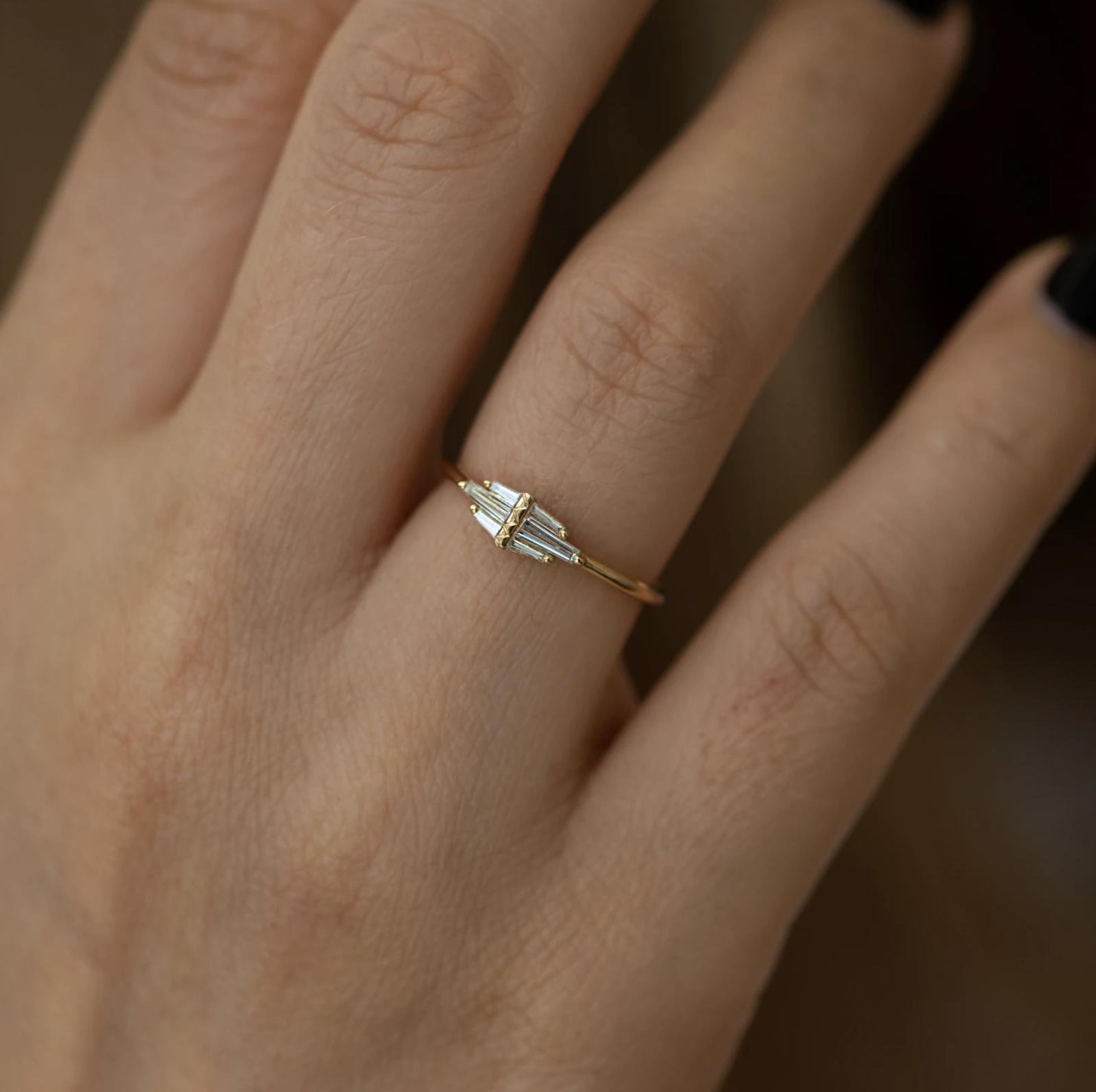 Artëmer Delicate Winged Cluster Diamond Ring
