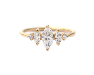 Artëmer Dainty Marquise Diamond Cluster Ring AT36