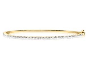 Diamond Cuffed Bangle Bracelet DL90