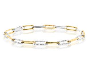 Diamond Paperclip Chain Bracelet DL91