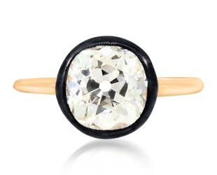 Trabert Goldsmiths 2.65ct Old Mine Cut Diamond Georgian Ring E3020