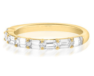 Trabert Goldsmiths Astoria Baguette Diamond Half Eternity Band E3041