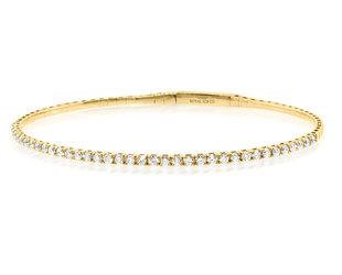 Trabert Goldsmiths 1ct Yellow Gold Diamond Flex Bracelet E3036