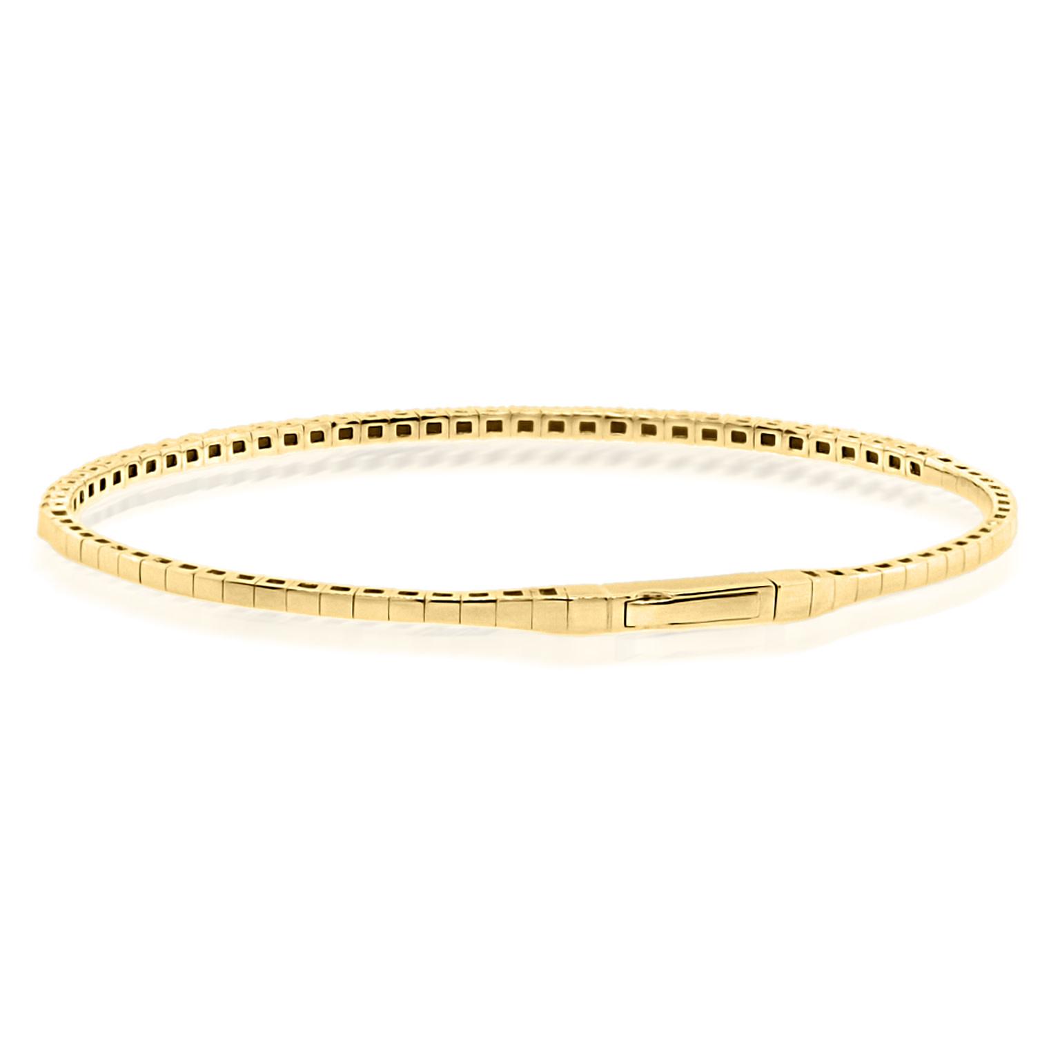 Trabert Goldsmiths 1ct Yellow Gold Diamond Flex Bracelet