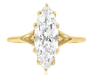 Trabert Goldsmiths 1.62ct DVS2 Marquise Diamond Orion Ring E3046