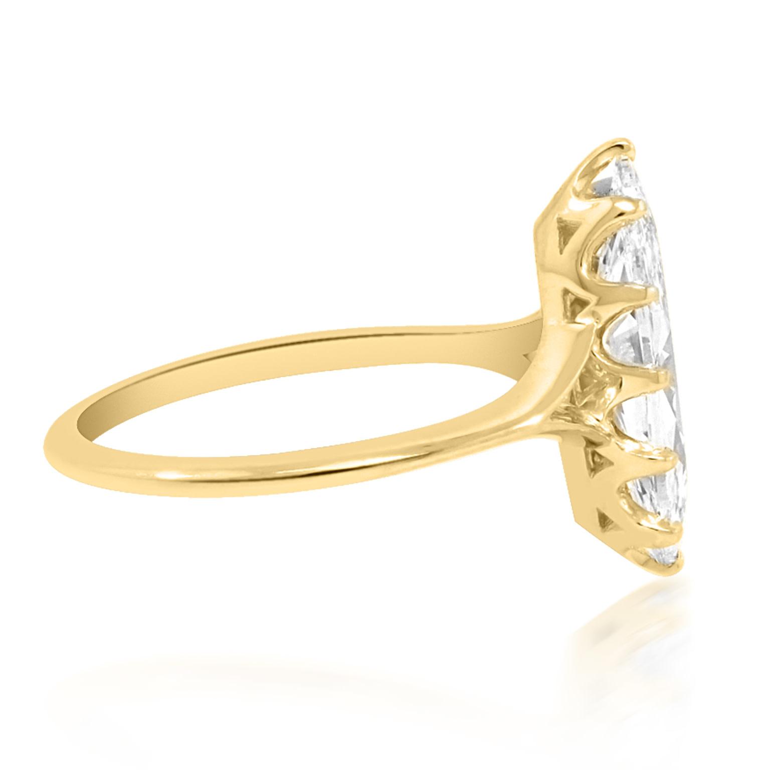 Trabert Goldsmiths 1.62ct DVS2 Marquise Diamond Orion Ring