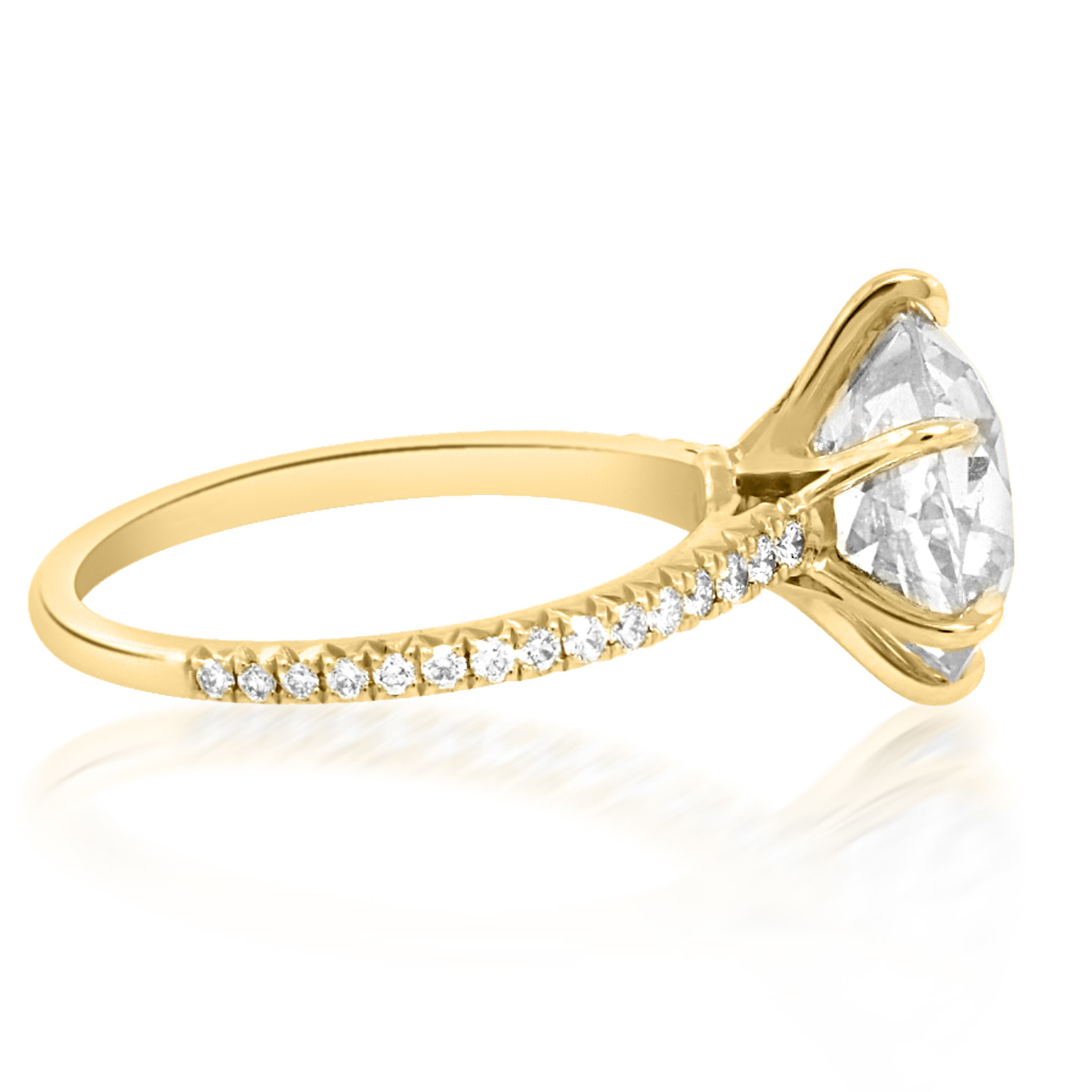 Trabert Goldsmiths 4.23ct Q/R SI1 Old Mine Cut Diamond  Eris Ring