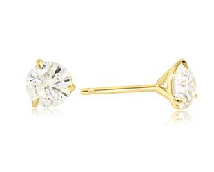 Trabert Goldsmiths 1.26ct HVS2 Round Brilliant Diamond Studs E3050