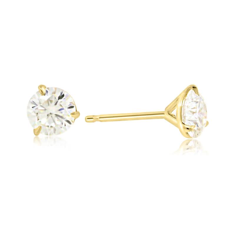 Trabert Goldsmiths 1.26ct HVS2 Round Brilliant Diamond Studs