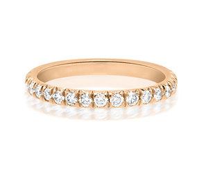 Trabert Goldsmiths Large Linea Diamond Rose Gold Eternity Band E3051