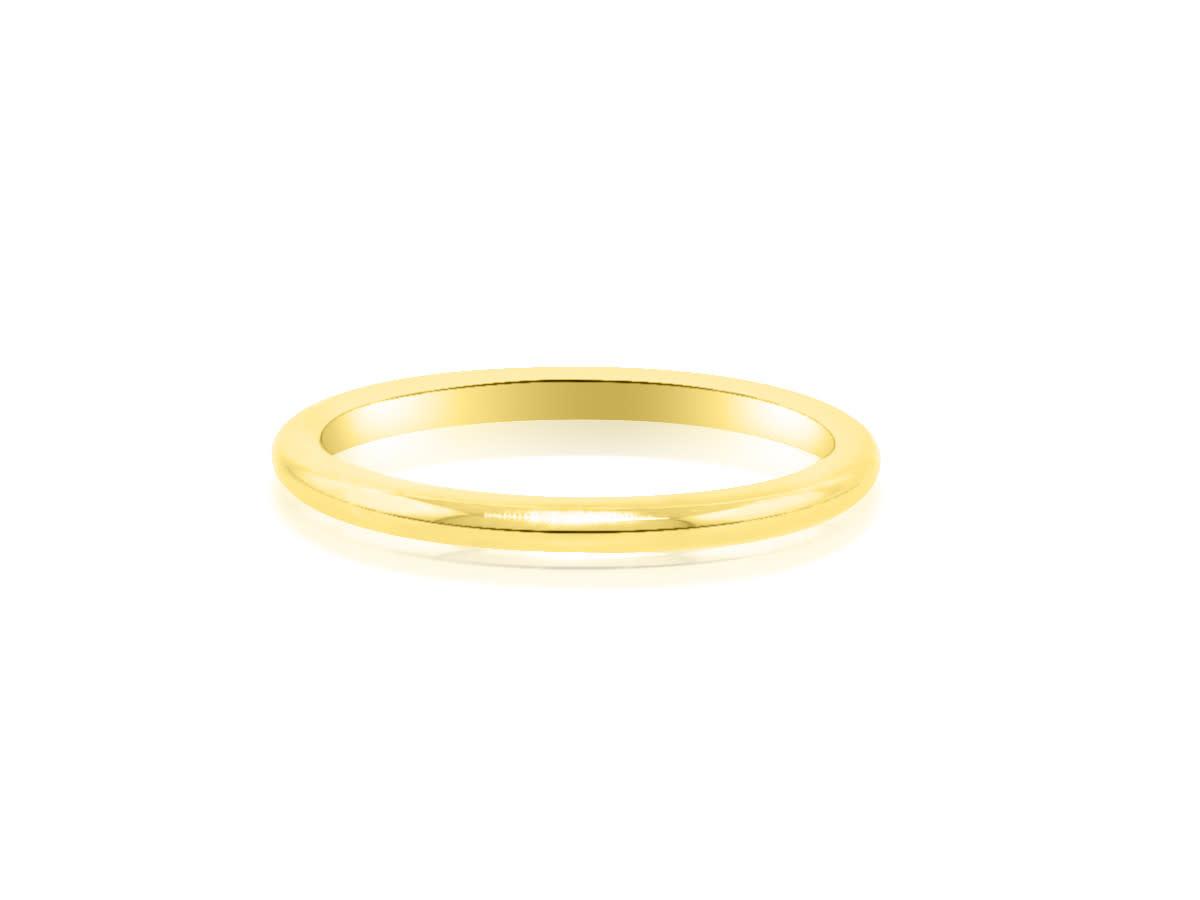 Trabert Goldsmiths 14 Karat Yellow Gold Aura Wedding Band