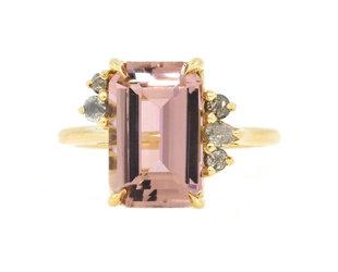 Trabert Goldsmiths Pink Tourmaline & Diamond Ring E3056