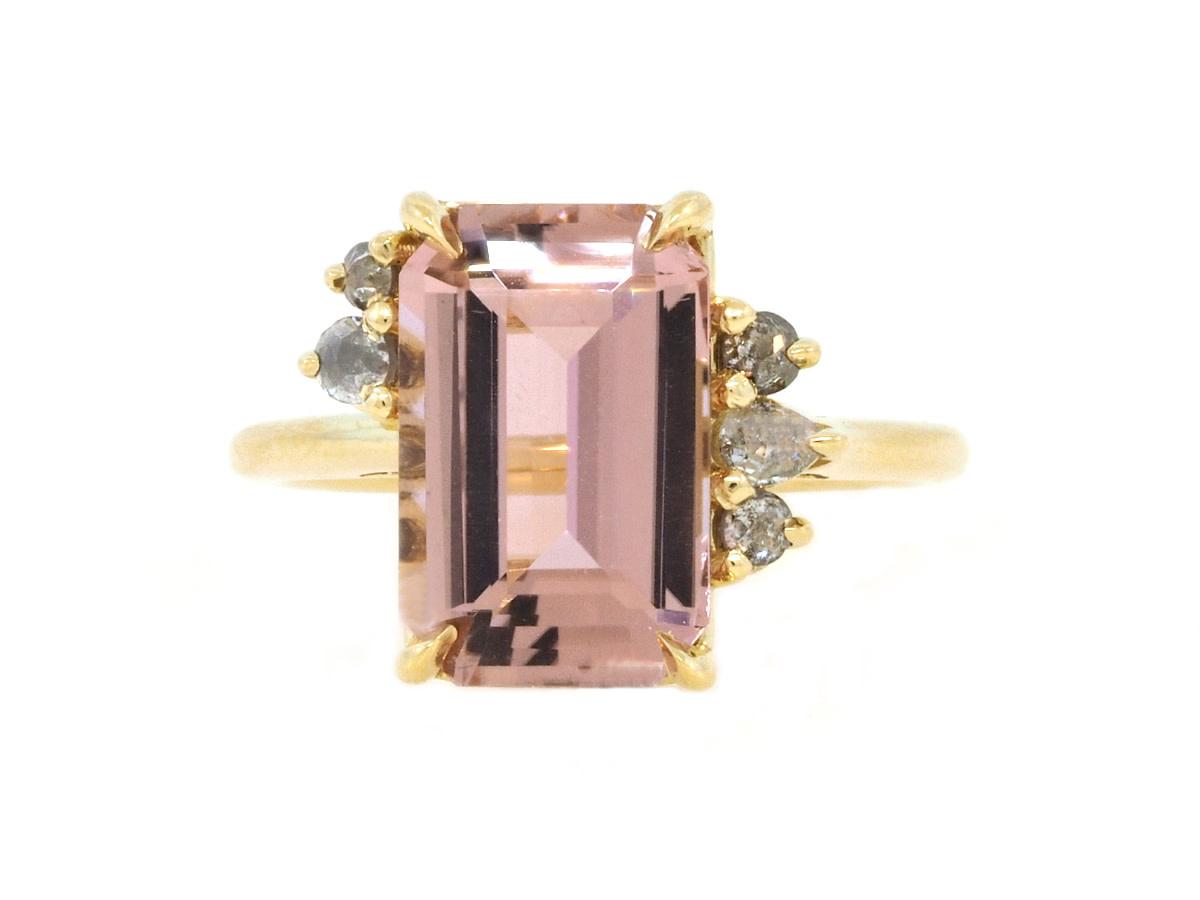 Trabert Goldsmiths Pink Tourmaline & Diamond Ring