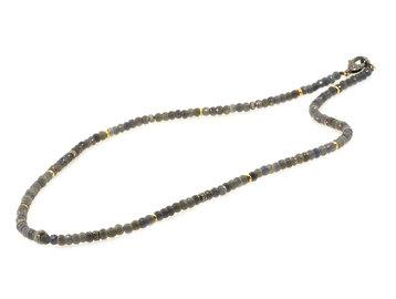 Trabert Goldsmiths Grey Sapphire Beaded Necklace E3058