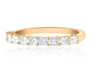 Trabert Goldsmiths Cushion Cut Diamond Rose Gold Ring E3063