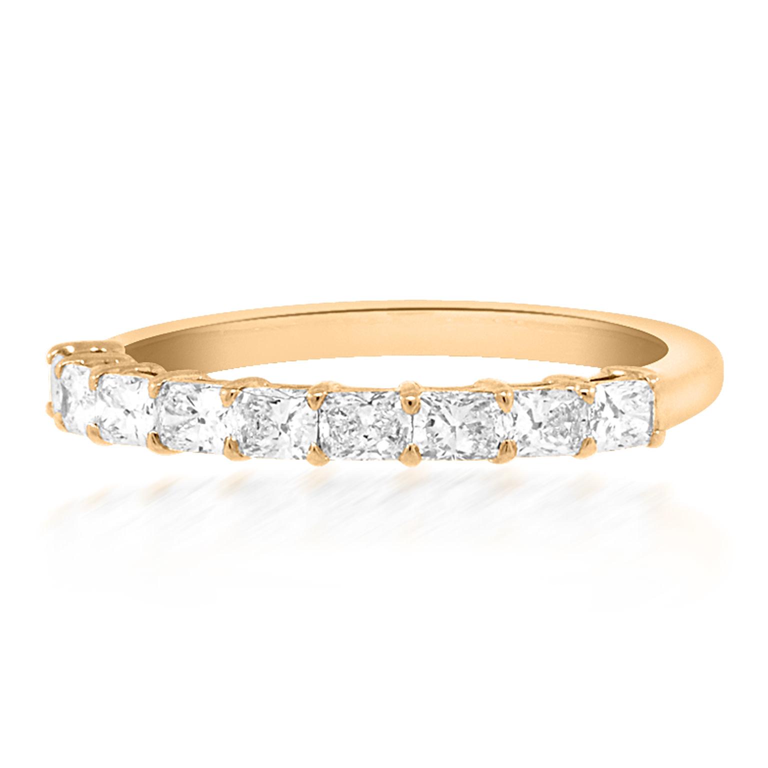 Trabert Goldsmiths Cushion Cut Diamond Rose Gold Ring