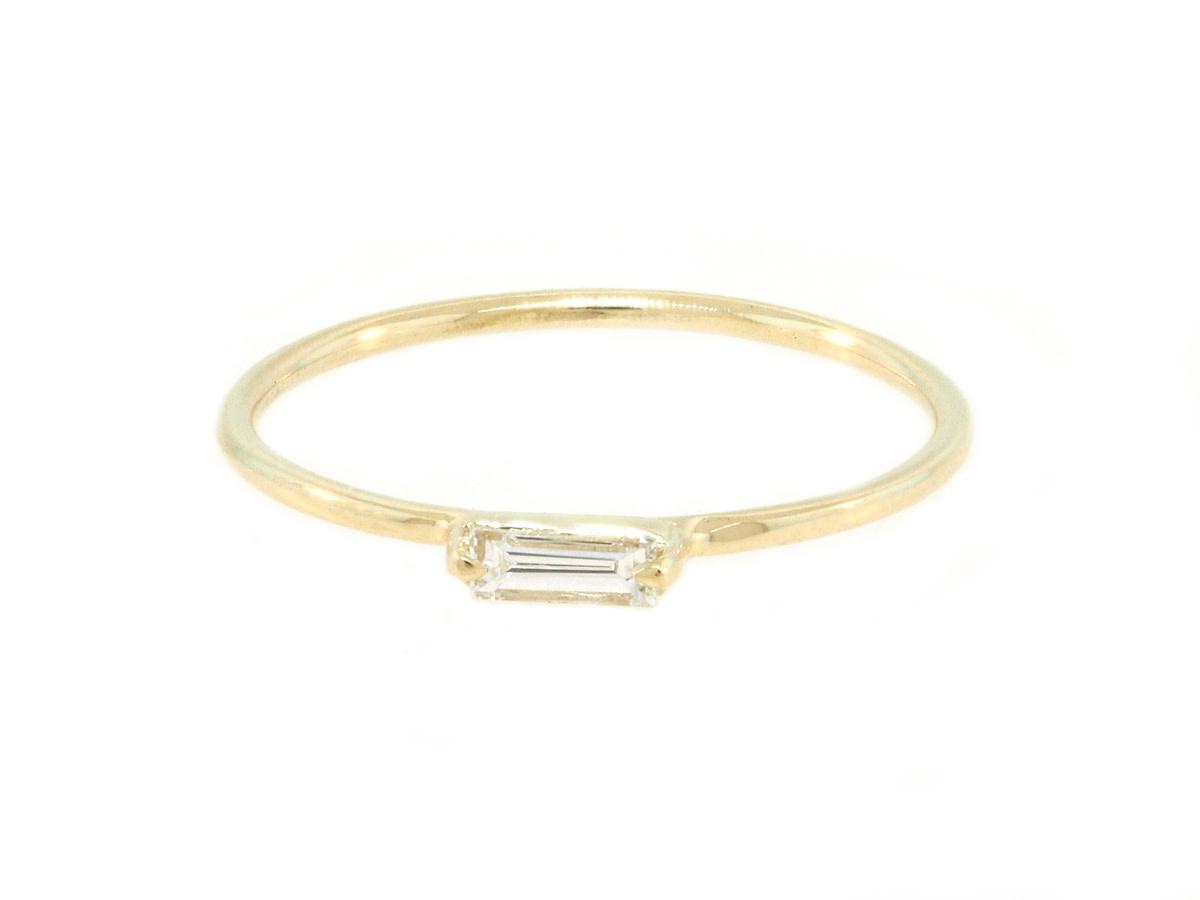 Trabert Goldsmiths Baguette Diamond Whisper Ring