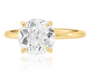 Trabert Goldsmiths 2.04ct KVS2 Old Euro Cut Diamond Aura Ring E3078