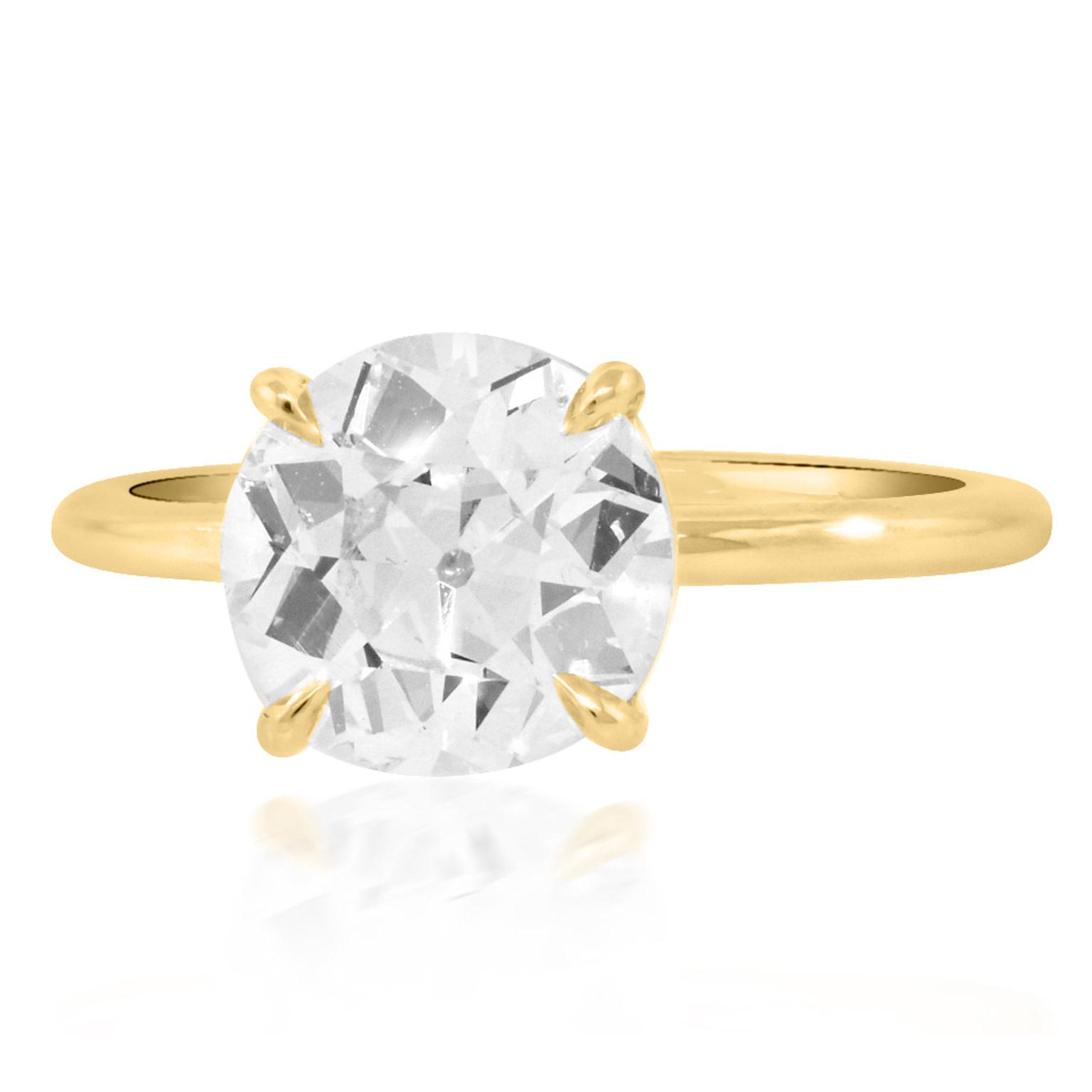 Trabert Goldsmiths 2.04ct KVS2 Old Euro Cut Diamond Aura Ring