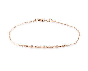 Trabert Goldsmiths Diamond Pattern Pave Rose Gold Bracelet E3087
