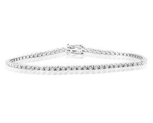 Trabert Goldsmiths Delicate Diamond Tennis Bracelet E3089