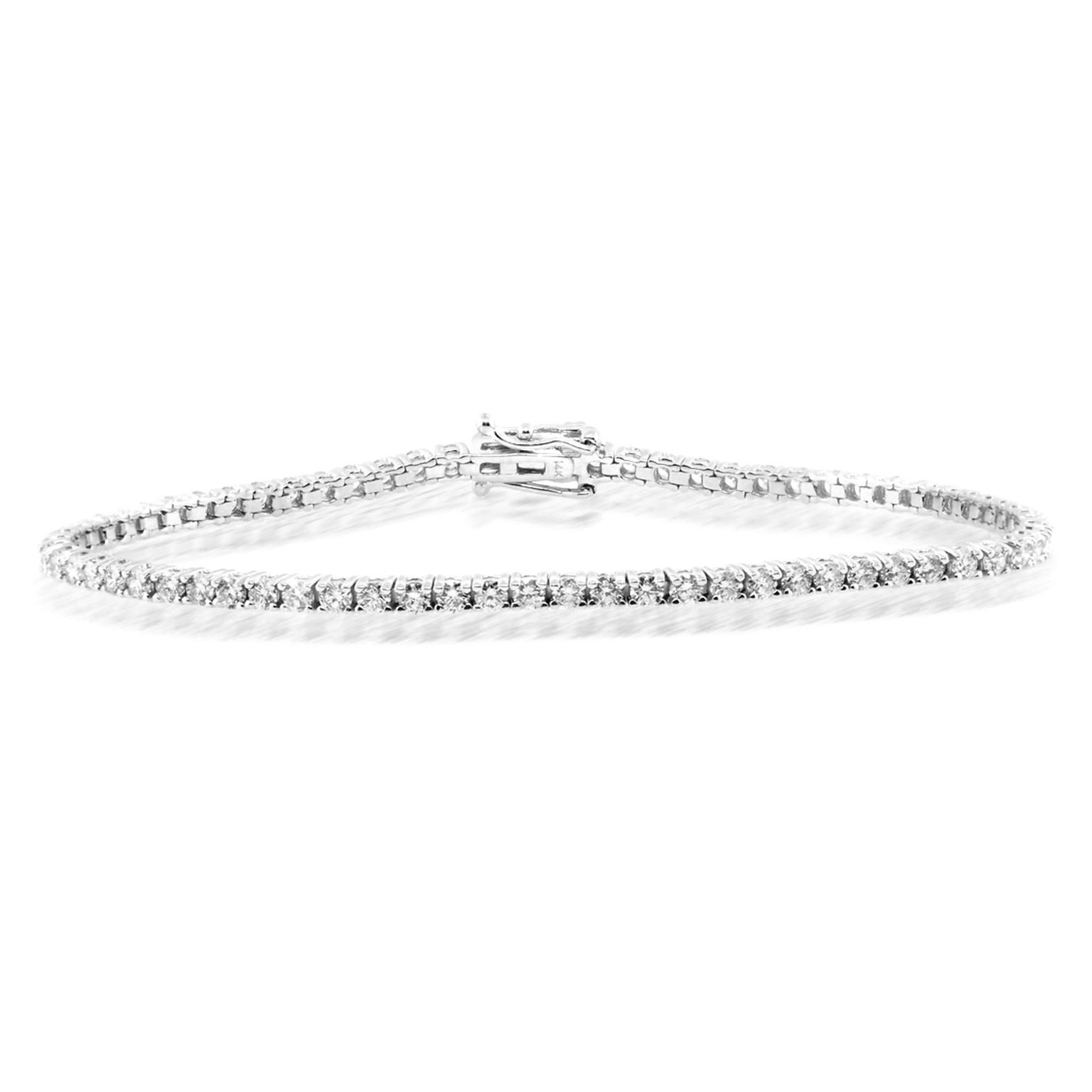 Trabert Goldsmiths Delicate Diamond Tennis Bracelet