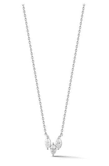 Dana Rebecca Alexa Jordyn Marquise Diamond Trio Necklace