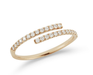 Dana Rebecca Lauren Joy Bypass Diamond Yellow Gold Ring DR49