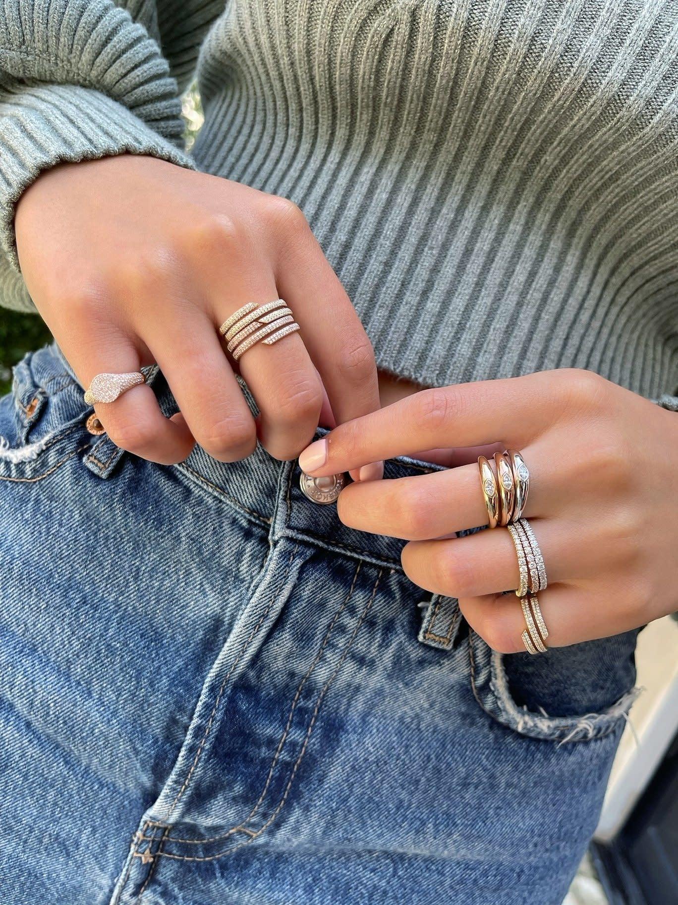 EF Collection Diamond Swirl Ring