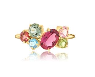 Trésor Multi Gemstone Small Cluster Ring TR01