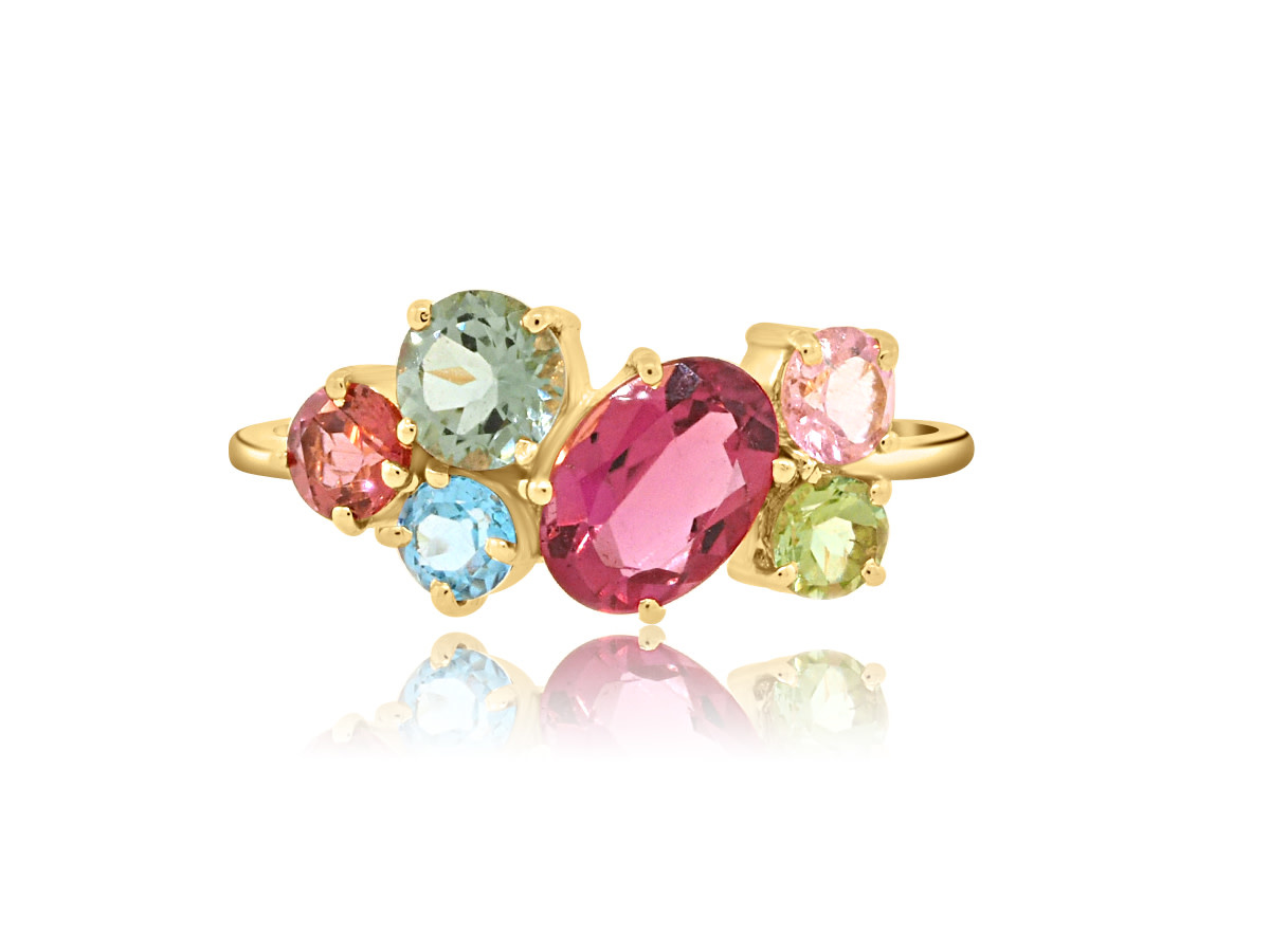 Trésor Multi Gemstone Small Cluster Ring