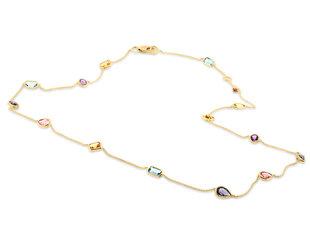 Trésor Multi Gemstone Bezel Necklace TR6