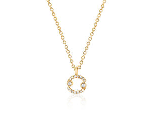 EF Collection Zodiac ' Cancer' Yellow Gold Pendant EF29