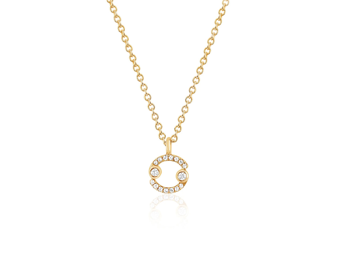 EF Collection Zodiac ' Cancer' Yellow Gold Pendant