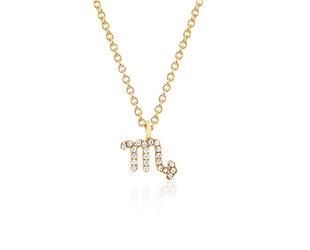 EF Collection Diamond Zodiac ' Scorpio' Yellow Gold Pendant EF30