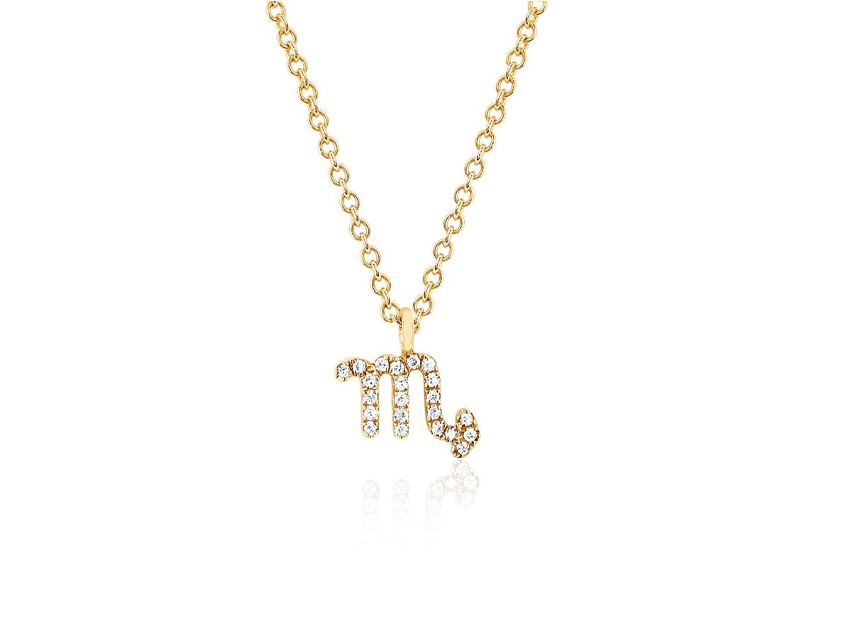 EF Collection Diamond Zodiac ' Scorpio' Yellow Gold Pendant
