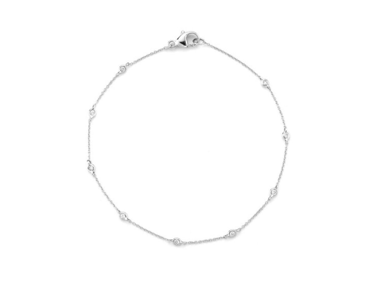 Dana Rebecca Lulu Jack Single Bezel Diamond White Gold Bracelet