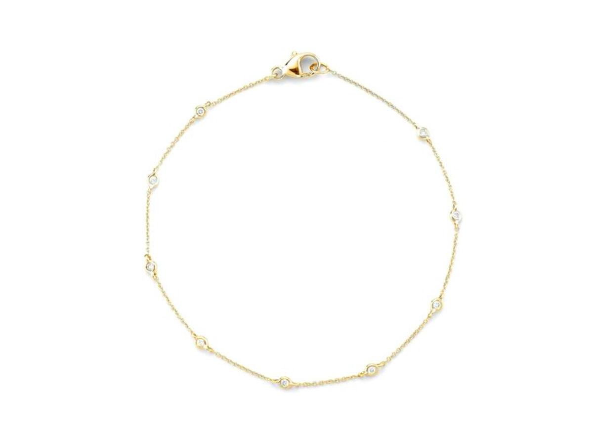 Dana Rebecca Lulu Jack Single Bezel Diamond Y/G  Bracelet
