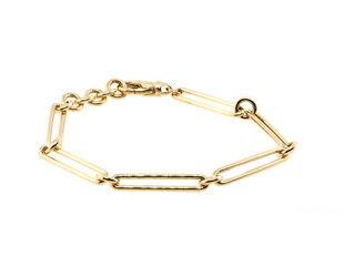 Trabert Goldsmiths Long Paperclip Yellow Gold Bracelet E3141