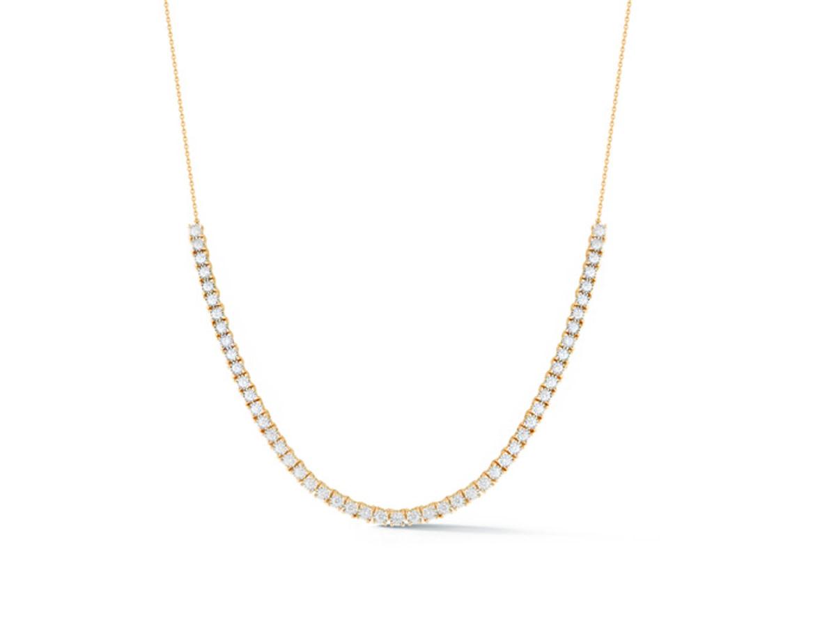 Dana Rebecca Ava Bea Diamond Tennis Yellow Gold  Necklace